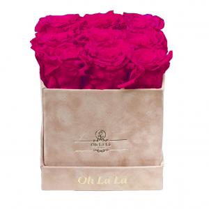 Lá Petite Square - Cerise Roses - Oh Lá Lá Roses